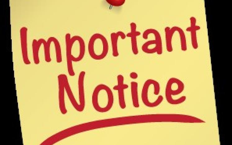 Testing Program Notice