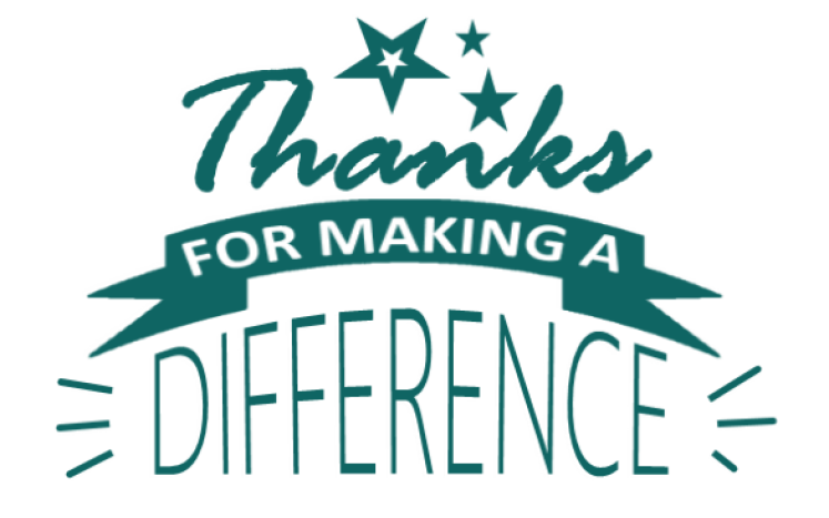 Thank you to our staff for making a difference!